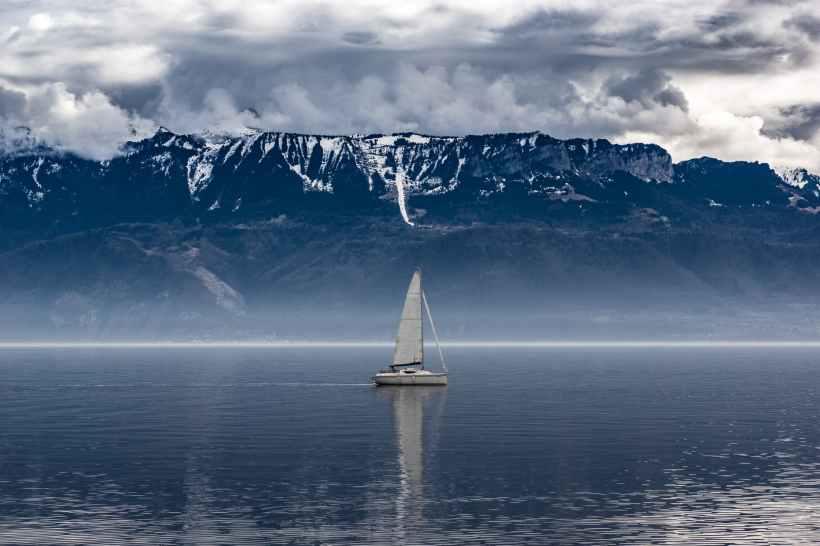 boat clouds cloudy fog